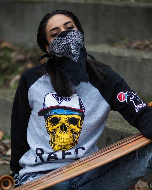 Skull Grey-Black Sweatshirt