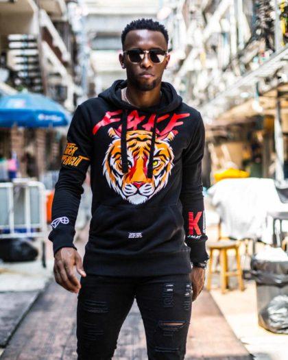 Tiger Black Hoodie